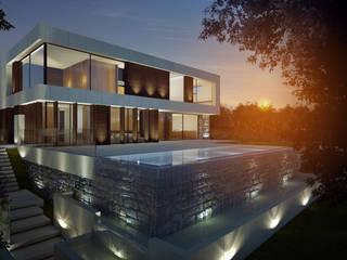 CASA LUGO Casas de estilo moderno de EAU ARQUITECTURA S.L.P. Moderno