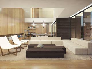 CASA LUGO Salones de estilo moderno de EAU ARQUITECTURA S.L.P. Moderno