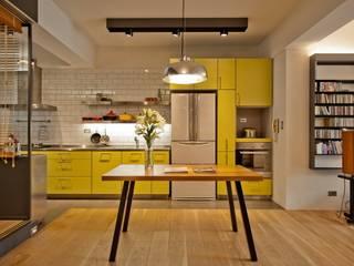 Cocinas de estilo minimalista por 直方設計有限公司