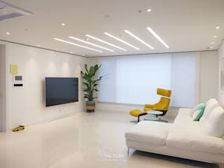 Living room by TheCUBE, Modern