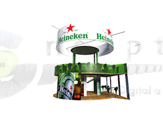 heineken - BAR Y STAND TEMPORAL de 2411CONCEPTO Minimalista