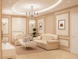 Salas / recibidores de estilo  por Дизайн студия 'Дизайнер интерьера № 1'