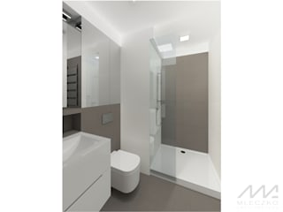 Minimalistyczna łazienka: styl , w kategorii Łazienka zaprojektowany przez Mleczko architektura