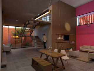 Salon industriel par Vintark arquitectura Industriel