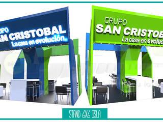 Stand interior - GRUPO SAN CRISTOBAL Espacios comerciales de estilo industrial de 2411CONCEPTO Industrial