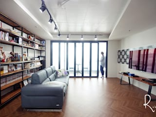 Living room by 로하디자인, Country