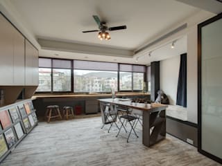 Eclectic style study/office by 思為設計 SW Design Eclectic