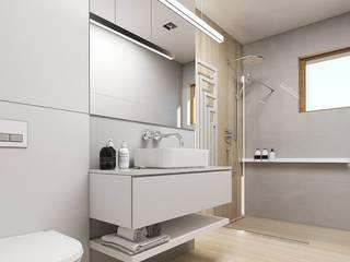 Ванные комнаты в . Автор – FOORMA Pracownia Architektury Wnętrz, Модерн