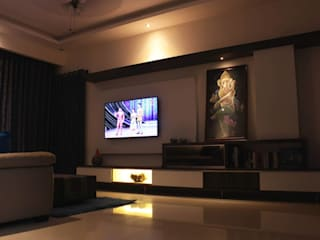 MK Jaiswal House Interior - Mahaveer Laural Apartment Modern living room by Soul Ziv Architecture Modern