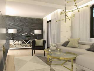 Salon de style  par ZIN Studio, Éclectique