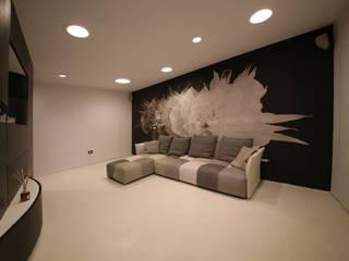 Studio di Segni モダンデザインの リビング