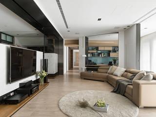 框景 │ 對話 现代客厅設計點子、靈感 & 圖片 根據 拾葉 建築室內設計 現代風