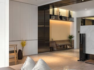 框景 │ 對話 現代風玄關、走廊與階梯 根據 拾葉 建築室內設計 現代風