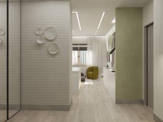 ДОМ СОЛНЦА Pasillos, vestíbulos y escaleras de estilo minimalista