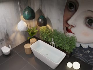 ДОМ СОЛНЦА Eclectic style bathrooms