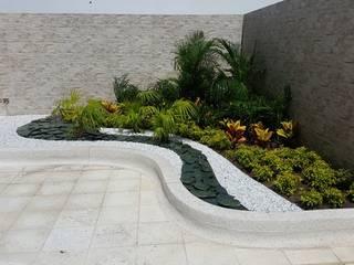 CONJUNTO MEDITERRANEAN TOWERS - BARRANQUILLA - COLOMBIA BRASSICA SOLUCIONES PAISAJISTICAS S.A.S. Jardines de estilo tropical
