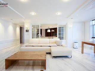 cocina Modern style kitchen MDF White