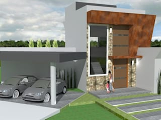 Residencia Moderna Minimalista por Barbara Oriani Arquiteta