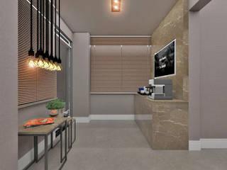 غرفة المعيشة تنفيذ Studio Diego Duracenski Interiores
