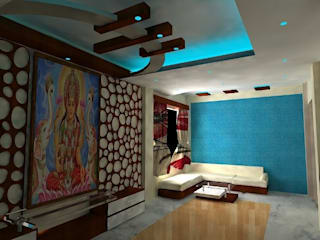 Mr. And Mrs khandelwal's House Modern living room by Grace Decore Modern