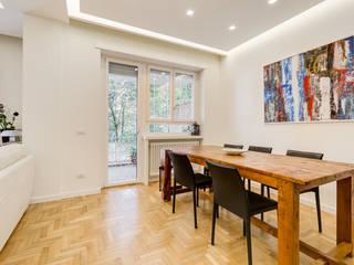 Farnesina | minimal design Sala da pranzo minimalista di EF_Archidesign Minimalista