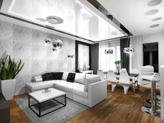 APARTAMENT MOKOTÓW: styl , w kategorii  zaprojektowany przez Room19 -studio projektowania wnętrz