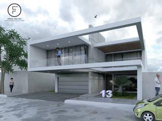 Residencial Casas minimalistas de Arq. Omar Freyre Minimalista