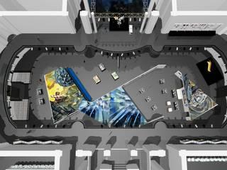 DISEÑO DE EXPOSICIÓN – LOS JAIVAS CINCO DECADAS DE ROCK EN CHILE: Centros de exhibiciones de estilo  por Dušan Marinković - Arquitectura - Santiago