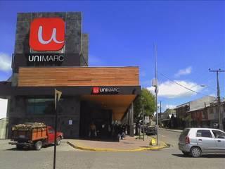SUPERMERCADO UNIMARC - COYHAIQUE: Espacios comerciales de estilo  por Dušan Marinković - Arquitectura