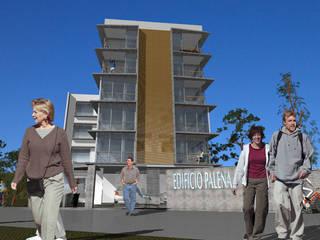 DISEÑO DE EDIFICIO EN COYHAIQUE - EDIFICIO PALENA: Casas de estilo  por Dušan Marinković - Arquitectura - Santiago