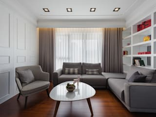 Living room by Glocal Architecture Office (G.A.O) 吳宗憲建築師事務所/安藤國際室內裝修工程有限公司, Modern