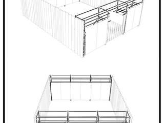 NC-LAB:  de estilo  por Fabric3D, Minimalista