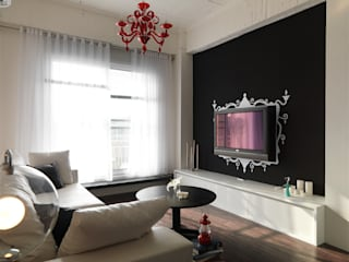 Living room by 邑法室內裝修設計有限公司