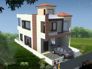 Duplex House Design:  Houses by Archplanest