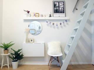 现代客厅設計點子、靈感 & 圖片 根據 노르딕앤 現代風