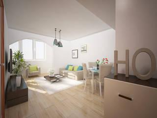 Apartamento em Massamá Salas de estar modernas por Espaços Renovados Moderno