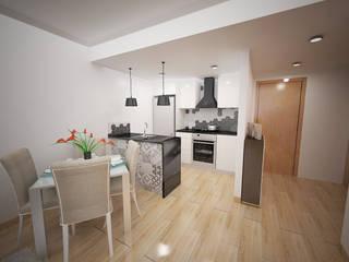 Apartamento em Massamá Cozinhas modernas por Espaços Renovados Moderno