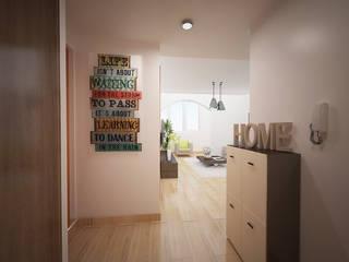 Apartamento em Massamá Paredes e pisos modernos por Espaços Renovados Moderno