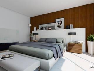 Проект для молодой пары: Спальни в . Автор – Студия дизайна интерьера Detal ID