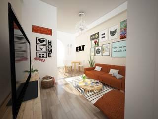 Apartamento Amadora Salas de estar modernas por Espaços Renovados Moderno