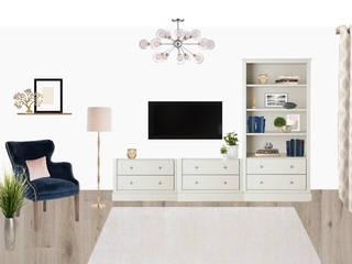 Концепция квартиры по ул. Менделеева (коллажи): Гостиная в . Автор – Студия дизайна интерьера Detal ID