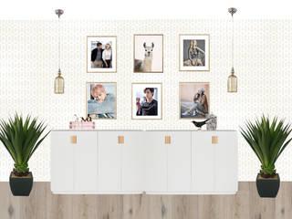 Концепция квартиры по ул. Менделеева (коллажи): Коридор и прихожая в . Автор – Студия дизайна интерьера Detal ID