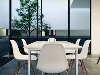 Casa Moderna BLACK&WHITE Comedores de estilo moderno de Jaime Quintero Diseño Moderno