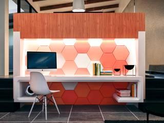 Estudio: Estudios y despachos de estilo  por Jaime Quintero Diseño