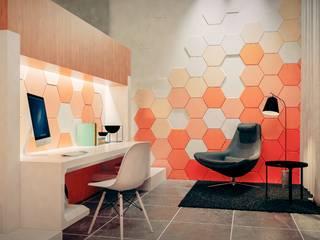 Casa Moderna BLACK&WHITE Estudios y despachos de estilo moderno de Jaime Quintero Diseño Moderno