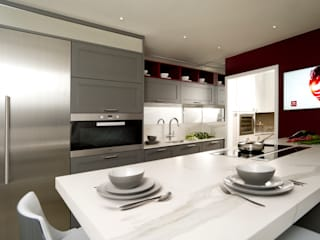 Lava Grey Shaker Style Kitchen by Urban Myth Country