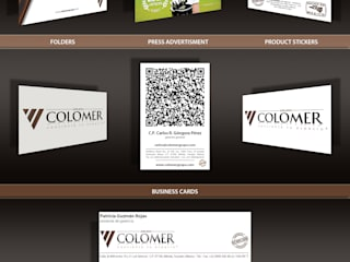 Identidad Corporativa Grupo Colomer: Oficinas y tiendas de estilo  por JEREMY TRON DESIGN - Evolution Architecture, Design & Communication Studio