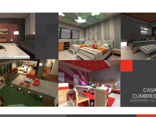 Projekty,  Sypialnia zaprojektowane przez 360arquitectura