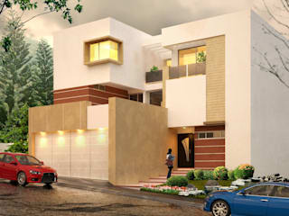 Residencia A212: Casas de estilo  por Javier Diaz │ arquitecto,