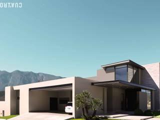 CASA RA: Casas de estilo moderno por UNOCUATRO